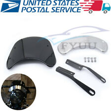 """Universal Retro Motorbike Modification ABS+Stainless Steel Wind Shield For 5""""&7"""""""