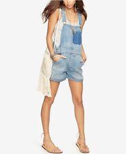 NEW Denim & Supply Ralph Lauren Women's Cotton Denim Overall Shorts Medium $165