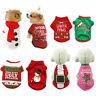 Christmas Pet Puppy Small Dog Cat Pet Clothes Dress Vest T Shirt Apparel Clothes