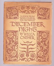 December Night by Willa Cather, 1st ed. in this format, Nov. 1933, ill. w/DJ