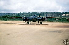 WW2 Color Photo P-61 Black Widow on Guam WWII US Army Air Corps World War Two