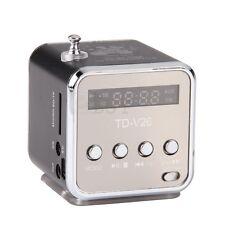 Mini Enceinte Haut Parleur Noir USB FM Pour MP3 iPhone iPod