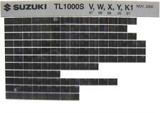 Suzuki TL1000 TL1000S 1997 1998 1999 2000  2001 Parts Catalog Microfiche s435