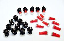 "15 Red Ford Lights Bulbs LEDs 3/8"" Sockets Instrument Panel Cluster Dashboard 37"