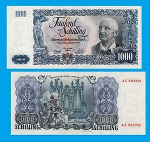 austria 1000 schilliong 1954 uk  -Reproduktion