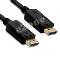 6Ft High Performance DisplayPort to DisplayPort (DP to DP) Cable - Gold Plated