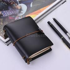 Vintage Journal Soft Cover Leather Diary Note Book Sketchbook Grid Notepad M4C5