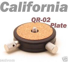 QR-02 Quick Release Plate ballhead adapter For Canon Nikon Pentax Sony DSLR KS01