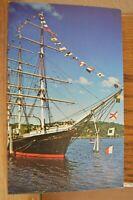 C 1960 Square Rigged Joseph Conrad Training Ship - Mystic Connecticut Postcard