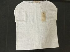 NWT Lilly and Bloom New Ladies Size Small Off White Sleeveless Top UK Size 10