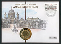 Numisbrief Dänemark Amalienborg 20 Kroner 1993 Stempel 1994 Nr. 1022 NB-A5/12