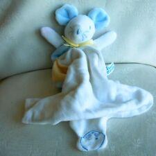 Doudou Souris Sucre d'Orge - Bleu Jaune