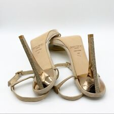 JIMMY CHOO SANDAL WITH ROSE GOLD HEEL RARE SIZE 43