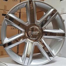 "22"" Rims Tires Escalade New Platinum Style Wheels Silver Chrome Yukon Sierra 24"