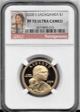 2008-S Sacagawea / Dollar $1. - NGC PF70 Ultra Cameo - PF 70 UC  RED LABEL.
