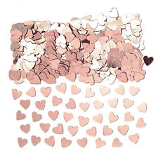Rose Gold Hearts Table Confetti Sprinkles Rose Gold Party Table Decorations