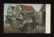 Netherlands animals DOG CART Holland Volendam Hondenkar c1902 u/b PPC