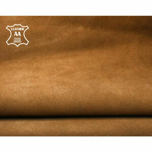 Brown Suede Leather Pieces // The Size of A Hide 5 - 6 sqft // Soft Sheepskin Ve