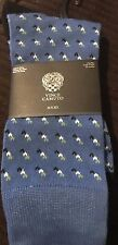 VINCE CAMUTO MENS NEW BLUE 84%POLYESTER 13%COTTON 3%SPANDEX DRESS SOCKS ONE SIZE