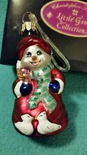 "Christopher Radko ~ Little Gems Collection ""Cool Couple"" Glass Ornament Retired"