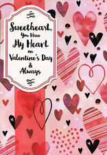 You Have My Heart Hand Crafted Over Sized Valentine's Day Card for Sweetheart