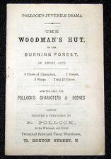 Toy Theatre - Original Playbook - Pollock's THE WOODMAN'S HUT