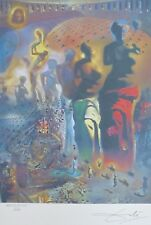 SALVADOR DALI The Hallucinogenic Toreador HAND NUMBERED PLATE SIGNED LITHOGRAPH