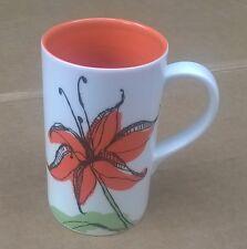 Starbucks 2006 Orange Asiatic Lily Mug 12 oz Coffee Tea Cup Mug Very Good