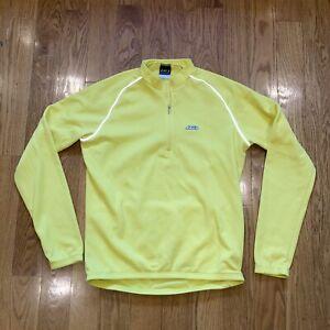 Louis Garneau Thermal Waffle 1/2 Zip Bike Jacket with pockets yellow medium