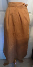 Vintage 80s NOS Villager Light Brown Cotton Skirt Size 16 W30