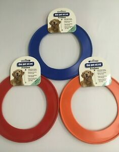 FRISBEE DOG TOY LARGE FLYING PLAY FETCH TOY 22CM STRONG DURABLE RED BLUE ORANGE