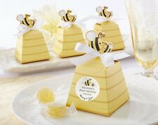 """50pcs baby shower """"Sweet as Can Bee!"""" Mom and Baby Beehive Favor Box"""