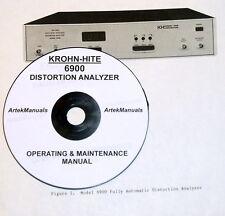Krohn-Hite Operating & Maintenance Manual for 6900 Distortion Analyzer