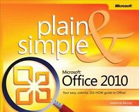Microsoft Office 2010 Plain & Simple, Paperback by Murray, Katherine, Brand N...