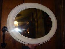 Oval Mirror in Cream - 56cm high x 46cm wide