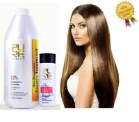 PURE 12 % Brazilian Keratin 1000ml Hair Straightening Repair Treatment + Shampoo