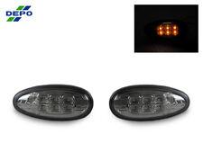 DEPO JDM Pair Smoke Amber LED Side Marker Lights For 2002-2003 Mitsubishi Lancer