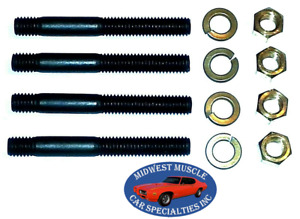 "GM GMC Chevy 3/8"" x 3-1/4"" Engine Exhaust Intake Manifold Head Stud Bolt 4pcs C"