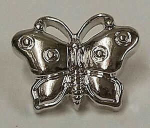 18mm Metallic Silver Butterfly Buttons - Choice of Pack Size