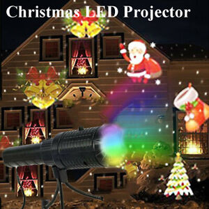 Moving Snowflake Projection Christmas LED Projector Light Lamp Laser Party Decor