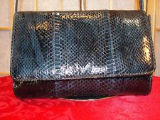 Lord & Taylor Blue Snake Cross Body Flap Shoulder Bag Purse Swing Pack Gift Item