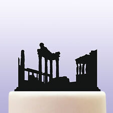 Acrópolis Acrílico Grecia antigua civilización ciudadela Cake Topper Decoración