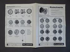 Uhrmacher - Katalog von Flume mit Einsteckwerke, um 1970
