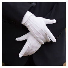 Polyester White Unisex Gloves for Inspection Doorman Santa Magician Comfortable