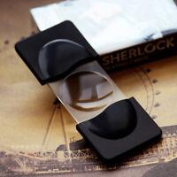 Mini Detective Sherlock Loupe Magnifier Magnifying Glass Reading Glass Lens Gift