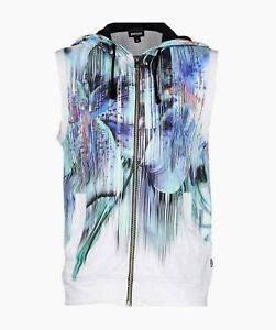 Just Cavalli sleeveless hoodies NWT size Large Made in ITALY