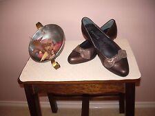 """Women's  heels """"Kumfs"""" size 37.5, Bronze pewter & bow, dressy."""