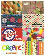 Lot (8) Hobby Lobby Gift Cards No $ Value Collectible