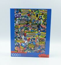 Captain America Comic Collage 1000 Piece Jigsaw Puzzle Aquarius. NEW SEALED