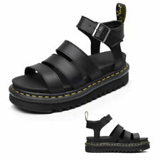 2021 Dr Martenss BLAIRE WOMEN'S HYDRO LEATHER GLADIATOR SANDALS Soft NAPPA UK